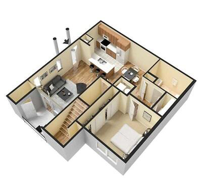 apartment-a-3d-furnished
